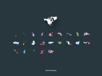 Flat Flags North America by capdevil13