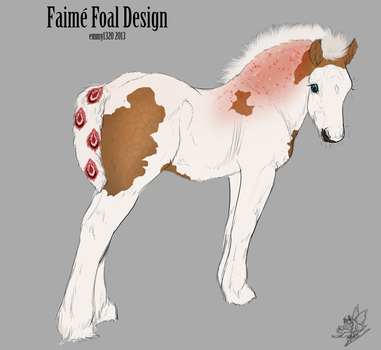 Faime Foal Design ID #550 For EquineUNL - deceased by EvenweaveEquestrian