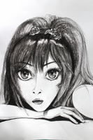 Anime Girl I - Charcoal Drawing [By Frederica] by Yersinia88