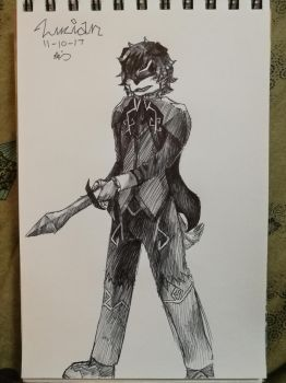 Inktober Day 10 - Lucian Naldritch (DnD) by kage-niji