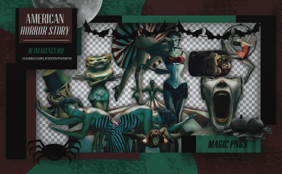 PACK PNG 243| AMERICAN HORROR STORY by MAGIC-PNGS