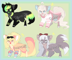 Sparble Dog Adopts (OPEN) by Rain-ette