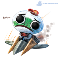 Daily Paint #1045. Slippy Toad #starfox by Cryptid-Creations
