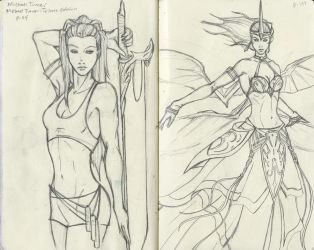 Sketching From Michael Turner by TheDyson