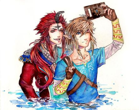Link and Sidon - Breath of the Wild by Laovaan