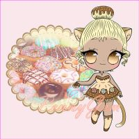 Donut chibi girl ~ CLOSED ~ lowered price by PennyGEM