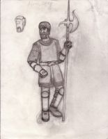 Almus Grey the Human Fighter sketch by LLCoolZJ