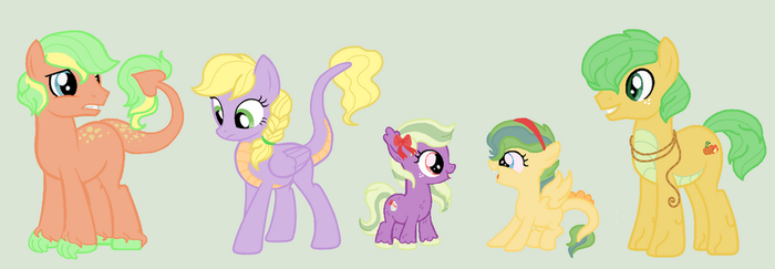 Applejack x Spike Adoptables CLOSED 5/5 by TheWritingHippo