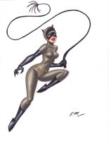 Catwoman Colored Sketch by em-scribbles
