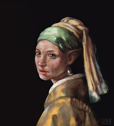 Merrill with the Pearl Earring by perditionxroad