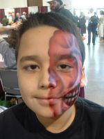 Two Face airbrush makeup by MarquisDeZod