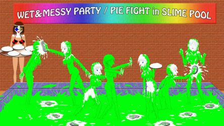 pie fight in slime pool by sg19001