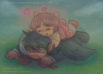 Chibi Pinoko Glomp Attack by shadowsirenmoon