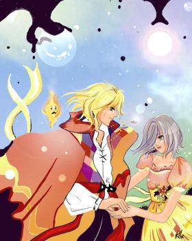 Howl and Sophie by skyden