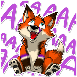 Felix Fox Telegram Stickers by lobowupp