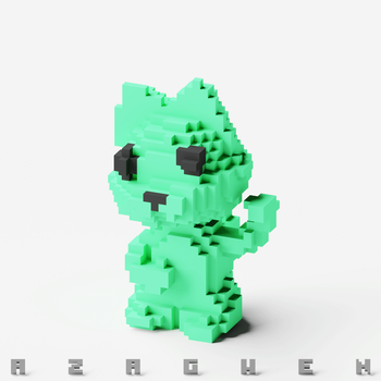 Voxel Cat by Azagwen