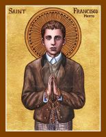St. Francisco Marto icon by Theophilia