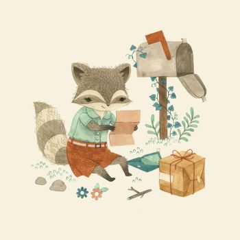 Raccoon Post by teaganwhite