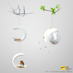 Wasp trap and Bird table concept by Dessins-Fantastiques