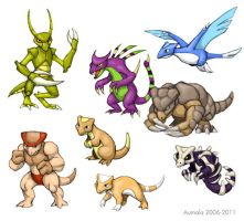 My Fakemon in Color by Osmatar