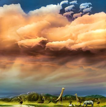 African Skies by 8025glome