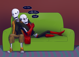 [Request] Underswap and Underfell Papyrus by Maxlad