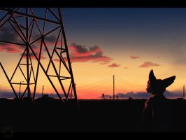 powerlines by GearOtter