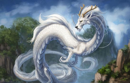 Chinese dragon by Azany