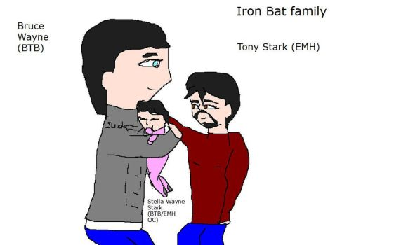 Iron Bat family and their baby by Dinzydragon
