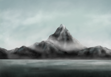 The Lonely Mountain (quick sketch) by FrerinHagsolb