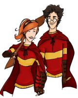 HP: Harry and Ginny by clarkey-lou