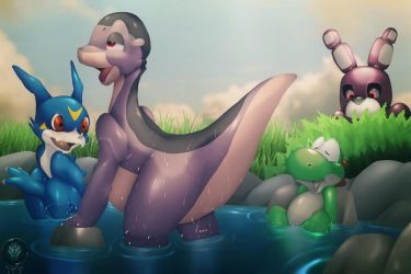 Dinosaur Bath by Atlasfield