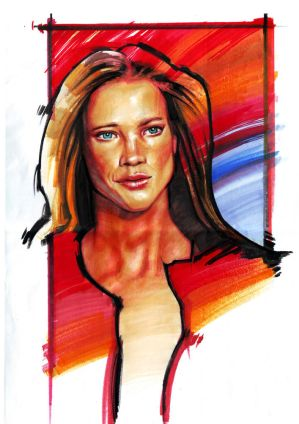 Portrait by marker by carlosCL