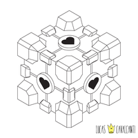 Companion Cube by lucascvlcnt