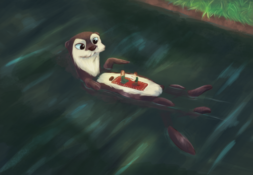Otter by BambiNothing