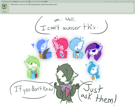 Ask 25: Genders! by GrumpyGardevoir