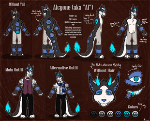 Alcyone Reference Sheet by MarbleMoonCat