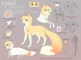 Linriel reference sheet 2015 by Vilina