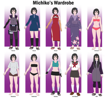 Michiko's Wardrobe by anniberri