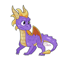 Spyro The Dragon by MinueCharm