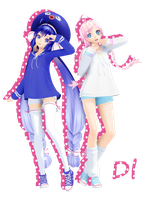 [MMD] TDA Sailor Otomachi Una and Rana [DOWNLOAD] by HikariShironeko