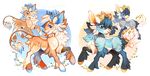 (CLOSED) Big Cat Cuties by spottedfawns