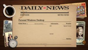 Newspaper Rainmeter Theme Wallpaper by DYIDDO