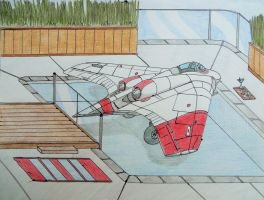Horten 229 at the pool by KevlarKatana