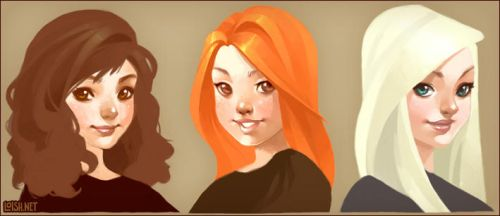 the HP girls by loish