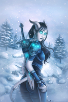 Learaa, Draenei Death Knight by Ninami