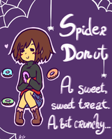 Underfell items - Spider Donut by Kaitogirl