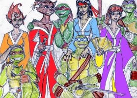 Tmnt and their girls by theaven