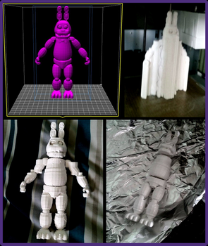 WIP 3D Printed Bonnie from Five Nights at Freddy's by gold94chica