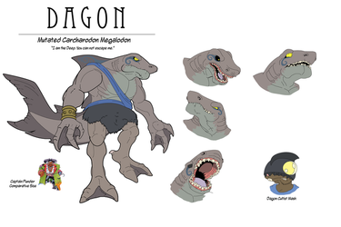 Dagon - The Giant Mutant Shark Concept by Okida